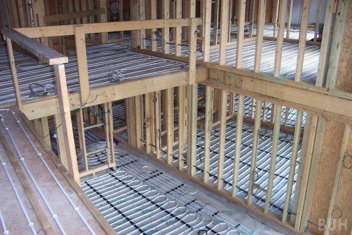 Wooden Floor New Underfloor Heating Under Wooden Floor